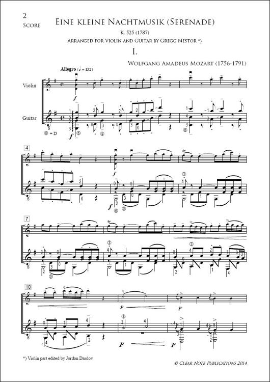 Eine kleine Nachtmusik (Serenade - K. 525) by Wolfgang Amadeus ...