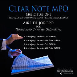 Aire de joropo for Guitar and Chamber Orchestra  Play-Along Printed Edition & Download Bundle