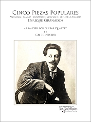 Cinco Piezas Populares for Guitar Quartet by Enrique Granados