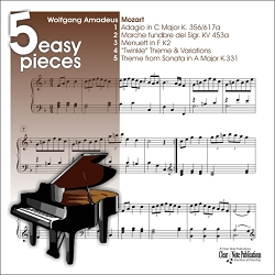 Mozart - 5 Easy Pieces for Piano - MUSIC BOOK AND AUDIO DOWNLOAD