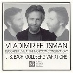 Vladimir Feltsman recorded live at the Moscow Conservatory. J. S. Bach: Goldberg Variations