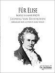 Für Elise by Ludwig van Beethoven for solo guitar