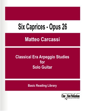 Six Caprices Op. 26 by Carcassi