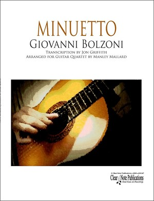Minuetto by Bolzoni for Guitar Quartet