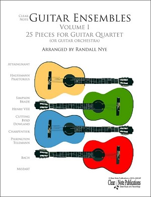 ADDITIONAL SET OF PARTS FOR  Guitar Quartets Volume 1 by Randall Nye
