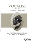Vocalise by Sergei Rachmaninoff Arranged by Glenn Caluda for Voice and four guitars