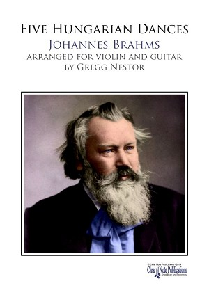 Five Hungarian Dances for violin and guitar by Johannes Brahms