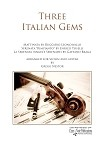 Three Italian Gems Arranged for Violin and Guitar