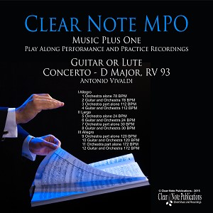 Concerto in D Major RV 93 Antonio Vivaldi  Play-Along Printed Edition & Download Bundle