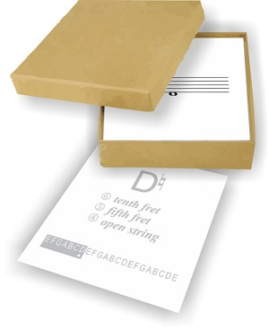 Clear Note Guitar Flashcards