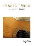 Les Soirees d' Auteuil by Napoleon Coste for Solo Guitar