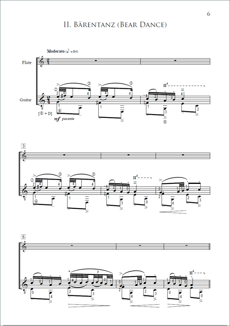 Sonatine And Bagpipe By Bla Bartk For Flute And Guitar