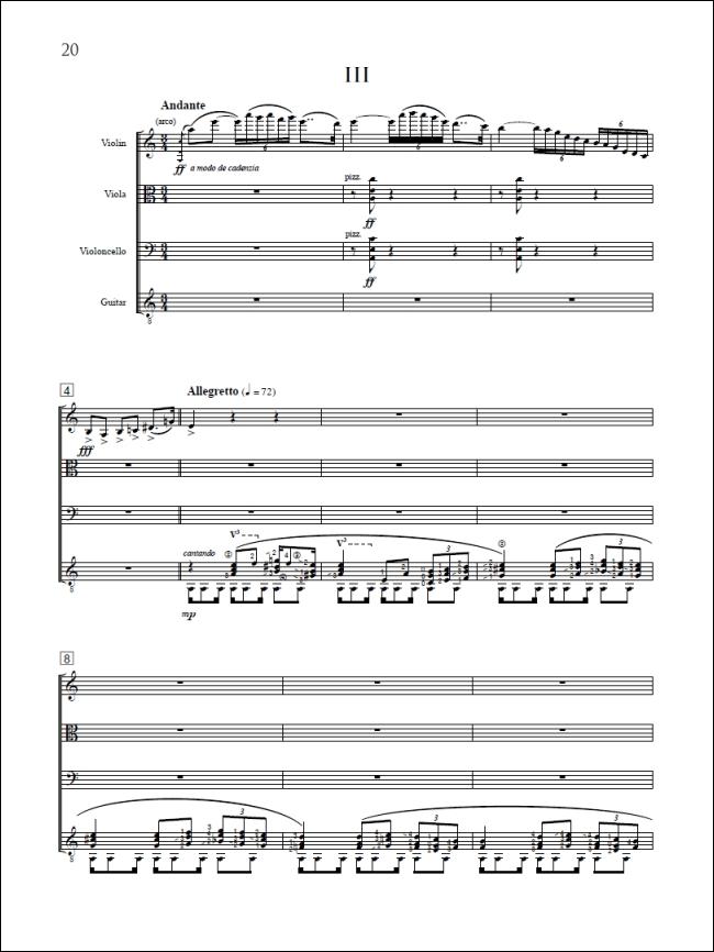 QUARTET IN A MINOR, Op  67a (1931) (Violin, Viola, Cello, Guitar) by  Joaquin Turina