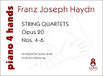 String Quartets Opus 20 - Nos. 4-6 - arranged for piano duet by Robin Holloway