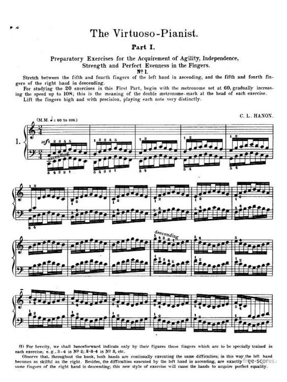 Hanon: The Virtuoso Pianist in Sixty Exercises