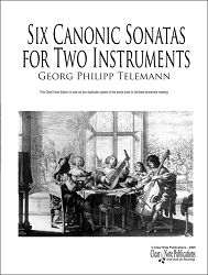 Six Canonic Sonatas by Georg Philipp Telemann