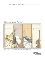 48 Page Clear Note Manuscript Paper Highest Quality 32 lb. Stock
