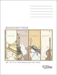100 Page Clear Note Manuscript Paper Highest Quality 32 lb. Stock