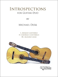 Introspections for Guitar Duo by Michael Deak