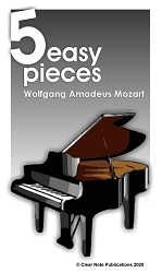 Mozart - 5 Easy Pieces for Piano eBook