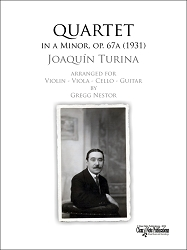 QUARTET IN A MINOR, Op. 67a (1931) (Violin, Viola, Cello, Guitar) by Joaquin Turina