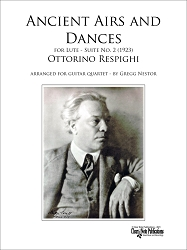 Ancient Airs and Dances - Suite No. 2 - Ottorino Respighi - for Guitar Quartet