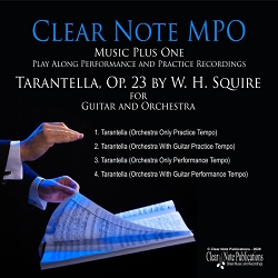 Tarantella, Op. 23 by W. H. Squire - Arranged for Guitar And Orchestra