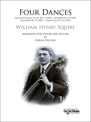 Four Dances by W. H. Squire - Arranged for Violin and Guitar