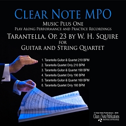 Tarantella, Op. 23 by W. H. Squire - Arranged for Guitar And String Quartet