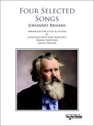 Four Selected Songs for cello and guitar by Johannes Brahms
