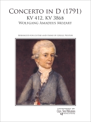 Concerto in D (1791) KV 412, KV 386b by Wolfgang Amadeus Mozart Arranged for Guitar and Piano