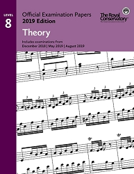 RCM EX1904 Official Exam Papers: Level 8 Theory 2019 Edition