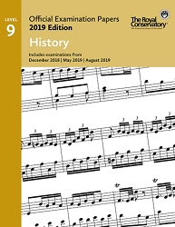 RCM EX1913 Official Exam Papers: Level 9 History 2019 Edition