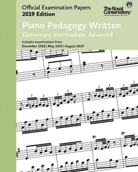 RCM EX1916 Piano Pedagogy Written Examination Papers 2019 Edition