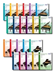 Complete 22-Book Celebration RCM Piano Series Repertoire and Etudes Set