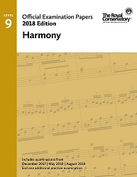 RCM Official Exam Papers: Level 9 Harmony 2018 Edition
