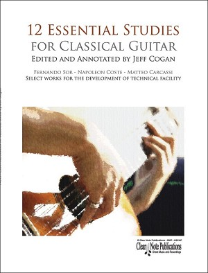12 Essential Studies for Classical Guitar by Jeff Cogan