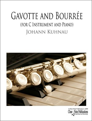 Gavotte and Bourrée for C Instrument and Piano by Johann Kuhnau
