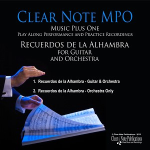 Audio Download page for Recuerdos de la Alhambra (for guitar and orchestra) MPO Play-Along Edition